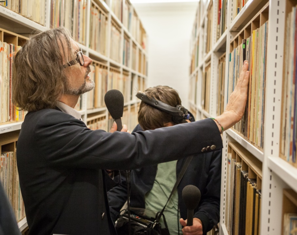 Jarvis Cocker visiting the British Library (photo Toby Keane)